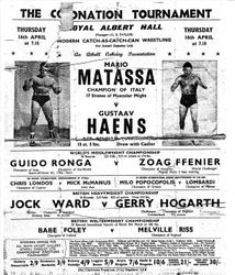 Gerry at the Royal Albert Hall challenging for the Heavyweight title.
