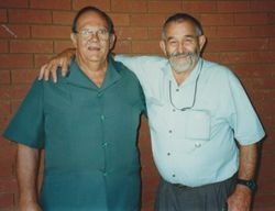 ...was Gert Snyman, left, with Frikki Albert, and....