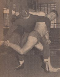 The Red Rebel was another international amateur wrestler...