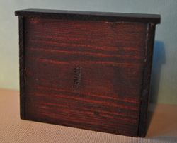 Back of Bureau with stamp