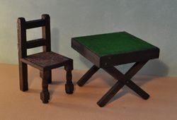 Pit-a-Pat chair and Card Table 1930's
