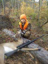 Dalton's first deer