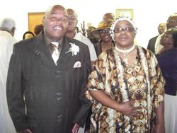 The Processional:  Pastor Franklin and Eunice