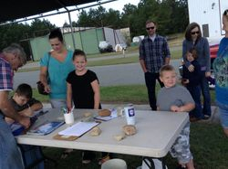 Happy kids at registration