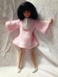 Dawns knitted dress 'Strawberry Shake'