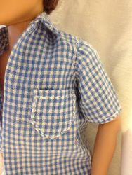 Detail of Georges summer shirt