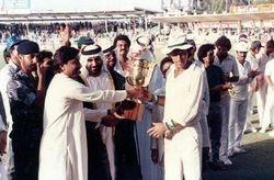 President Asif Ali Zardari Giving Trophy to Imran Khan