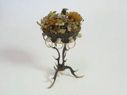 antler plant stand