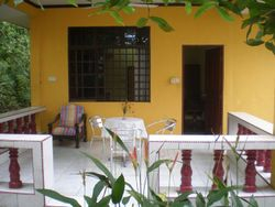 Santubong's private balcony