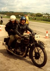 1983 Oliver Slater on a Cammy Velocette