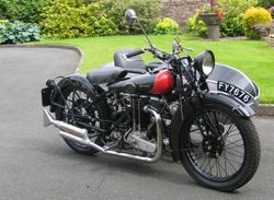 1924 Coventry Eagle 350cc fitted with Dorway Folding Sidecar