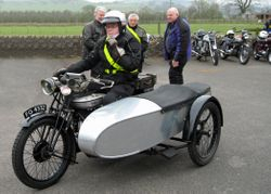 1927 Norton model 19 and Sidecar