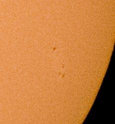 Sunspot 12 June 2010 enlarged