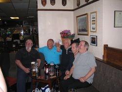 Having a good time - Alan Kilby, Les Prest, Sean McNeill, Dicky Swales, Jimmy Devlin