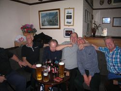 A lot of fun - Sean McNeill, Dicky Swales, , Jimmy Devlin, Hack, Gerry ?