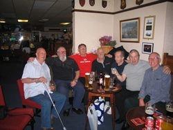 All good friends- Dwight J Ingleburgh, Alan Kilby, Ray Taylor,  Sean, Dicky, Jimmy, Hack