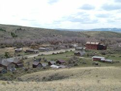 Bannack State Park from the Hill Overlook
