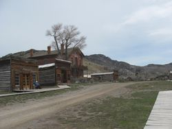 Bannack Park Buildings Before Spring Cleaning