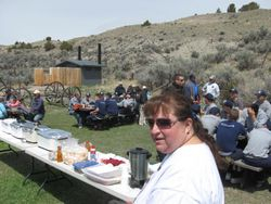 Sharon Prewett and Bannack 3-7-77 Provide a Great Lunch for All