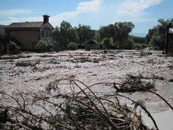 Masonic Lodge/Schoolhouse during Flood