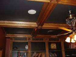 antiqued wood ceiling