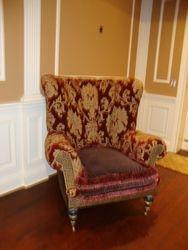 Chair After in Velvet & Chenille