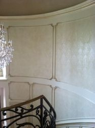 handpainted stencil damask