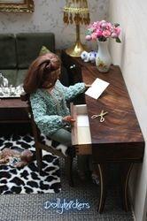 1/6th scale writing desk/ wall unit