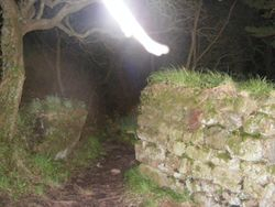 Ghostly figure appearing