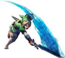 link your sword is emmiting blue light
