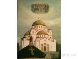 Hram Svetog Save sa ustanicima Karadjordja na nebu