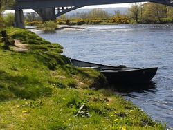 Fishing boat on the Spey