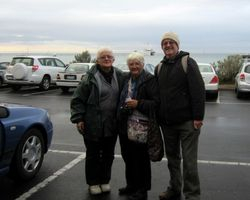 Margaret, me and James
