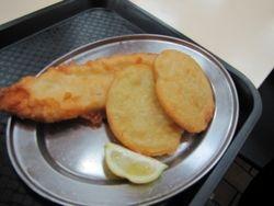 Fish and potato cakes (gummy shark)