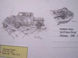 Kaddatz boys' postcard