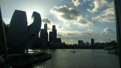 Singapur- pogled sa mosta Marina Bay