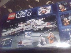 LEGO Star Wars 9493 X-wing Starfighter box, back