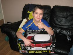 Cam with his new mini