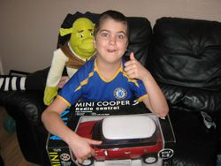 Cam with his new pal all the way from Florida x
