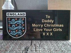 England badge Merry Christmas