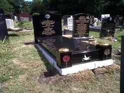 Full Memorial black granite