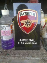 Arsenal hand drawn & painted