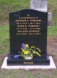Back granite ogee top headstone