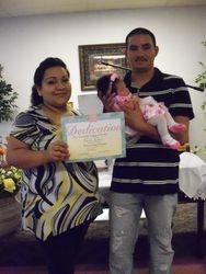Dedication of baby Anayely