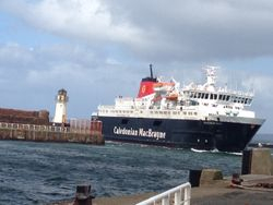 First ferry at Ardrossan