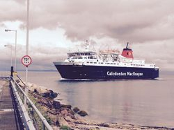 Last ferry at Brodick, Arran