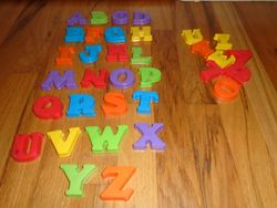 Magnetic Letters for Easel or Fridge - $5