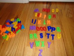 Magnetic Letters for Easel or Fridge - $7
