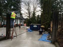 Prep work for stone work in Fort Langley