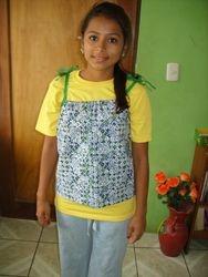 Beautiful girl in shirt